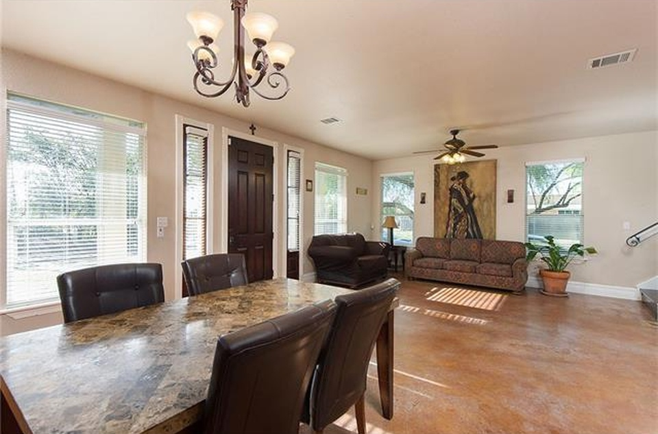 The Westlake House dining area and sitting area